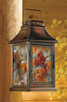 4373445026:Early Snow - Cardinals Candle Lantern