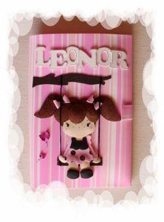 Capa para Caderno Decorada e Personalizada em EVA - Leonor