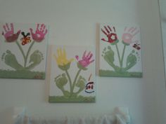 hand and feet print decorations for the bathroom