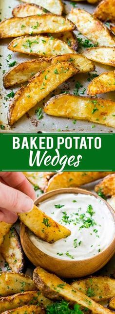 Baked Potato Wedges Recipe | Baked French Fries | Oven Fries | Oven Fried Potatoes