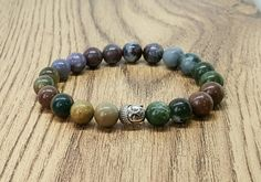 Check out this item in my Etsy shop https://www.etsy.com/uk/listing/251753886/agate-bracelet-mens-bracelet-buddha