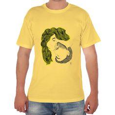 Camiseta hombre manga corta con corte amplio y tubular de cuello redondo. 100 % algodón. Ilustración de Nastiplastic para neondoodle.com