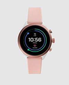 Fossil Women's Gen 4 Sport Metal and Silicone Touchscreen Smartwatch with Heart Rate GPS NFC and Smartphone Notifications Grey Watch, Pink Watch, Sport Watches, Watches For Men, Popular Watches, Nice Watches, Simple Watches, Photo Polaroid, Online Shopping