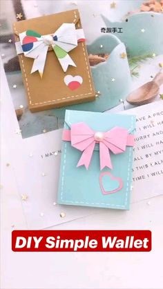 Cool Paper Crafts, Paper Crafts Origami, Diy Crafts For Gifts, Diy Arts And Crafts, Diy Craft Projects, Decor Crafts, Fun Crafts, Oragami, Origami Art