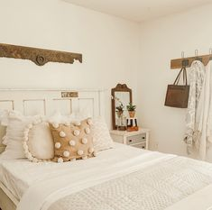 The bedroom is your personal nest or hideout. If there is a place that should be as comfortable as possible, it is your bedroom. Cozy Small Bedroom Decor, Country Cottage Bedroom, Cozy Small Bedrooms, Neutral Bedroom Decor, Guest Room Decor, Boho Bedroom Decor, Farmhouse Bedroom Decor, Bedroom Vintage, Cozy Bedroom