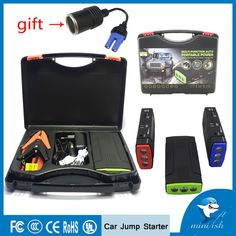 On sale US $49.20  Portable Mini Multifunction AUTO Emergency Start Battery Charger Engine Booster Power Bank Car Jump Starter For 12V Battery Pack