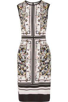 Erdem Printed silk dress | THE OUTNET