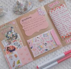Bullet Journal School, Bullet Journal Art, Bullet Journal Ideas Pages, Fun Crafts To Do, Diy And Crafts, Paper Crafts, Pink Crafts, Glitter Crafts, Aesthetic Letters