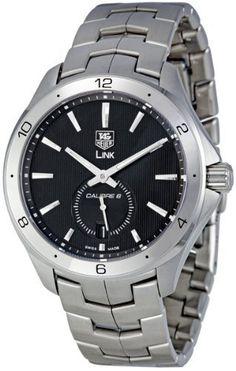 TAG Heuer Men's WAT2110.BA0950 Link Black Dial Watch from TAG Heuer