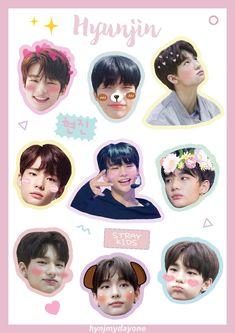 Pop Stickers, Tumblr Stickers, Kids Stickers, Printable Stickers, Round Stickers, Chibi, Kpop Diy, Fanart, Aesthetic Stickers