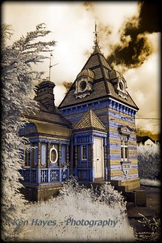 Rathaspeck Gate Lodge, or the Dolls House as it's known, in 'infrared' by Ken Hayes Wexford Town, Wexford Ireland, Old Photos, Gate, Highlights, Beautiful Places, Dolls, Mansions, Architecture