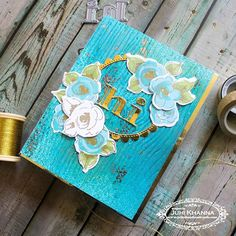 Played with some goodies after a really long time. Playing along the August , just love the inspiration. Altenew, How To Distress Wood, Wood Grain, Goodies, Turquoise, Photo And Video, Handmade Cards, Artist, Projects