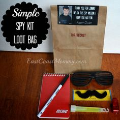 {simple} Spy Party Loot Bags...great for an afternoon of pretend play too