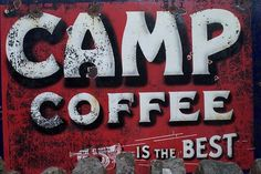 Camp Coffee vintage tin sign