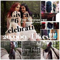 """From Facebook: """"It's Time!! It's Time for the Free Morgana Giveaway! #6!!   Faye Tality Couture wants to celebrate reaching 20,000 likes!! I can't hardly believe it!!  *PLEASE READ GUIDELINES TO ENTER!*  To celebrate reaching over 20,000 likes, this is a special giveaway competition to win Your choice of a free, plain Morgana (in your choice, size and color) OR a gift credit of equal value to put towards ANY Faye Tality creation!! ($135 Canadian dollars!!)"""""""
