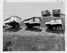 JUL 30 1967 These Houses On Stilts In Hollywood Hills Between Los Angeles, San Fernando Valley Are Typical Builders, who have to reach for sites in some areas, predict high-rise apartments eventually will replace houses.