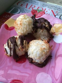 Coconut macaroons: egg, coconut, sweetener of choice