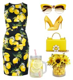 """lemonade"" by tootieblack on Polyvore featuring Dolce&Gabbana and Pier 1 Imports"