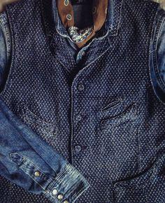 "retrofrance: "" Denim look "" 40s Mode, Retro Mode, Raw Denim, Workwear Fashion, Denim Fashion, Mode Hipster, Style Urban, Style Masculin, Rugged Style"