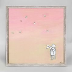 Love You No. 3 Mini Framed Canvas from Oopsy Daisy, Fine Art for Kids. Size - 6''x6''. Price - $29.98. Browse the rest of our collection of mini framed canvases now!