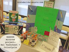 Marker Mitzvah (recycling markers): easy project for K-12 schools