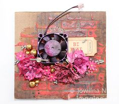 """Upcycle computers into art with walnut ink and texture paste. Create a """"Be Mine"""" message for your loved one."""