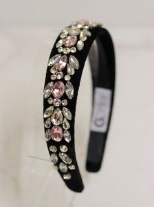 Tiara Velvet Pedrarias Rosa Claire - Hair accessories: buy tiaras for special occasions – G. Steampunk Accessories, Diy Hair Accessories, Women Accessories, Fashion Accessories, Rhinestone Headband, Diy Headband, Headbands, Bridal Hair Pins, Hair Beads