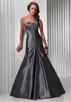 Style A-line Sweetheart Beading Sleeveless Floor-length Taffeta Light Slate  Gray Prom Dress   Evening Dress 3595325364e4