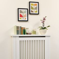 Neutral radiator cover with shelf | Shelving ideas | PHOTO GALLERY | Style at Home | Housetohome.co.uk
