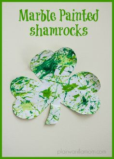St. Patrick's Day Marble Painting - Plain Vanilla Mom