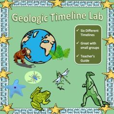 This geologic timeline activity works well with 7th - 10th grade earth science students. Included are six different tables of events on six different masters so that even with a class of 36, having small groups of three ensures six different timelines with only two small groups making the same one. The activity sheet guides students through creating a scale of geologic time and then has students use that math to calculate how far down their timeline their events should be marked.