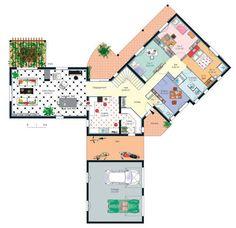 Plan habillé Rez-de-chaussée - maison - Villa méridionale