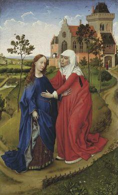 Rogier van der Weyden, Heimsuchung, um 1435/40, Maximilian Speck von Sternburg Stiftung