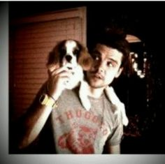 Andrew Lee Potts holding a puppy...what's not to like about this??