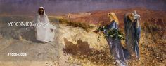 Christ in the Desert, 1895, by Domenico Morelli (1826-1901), oil on canvas, 86x166 cm.