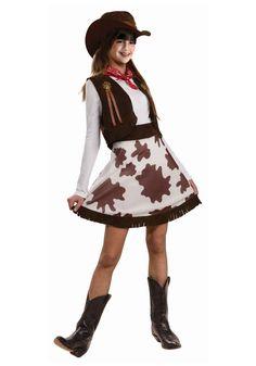 Cowgirl Costume Enfant Filles Enfants Tenue Woody Western Déguisement Âge 4-9