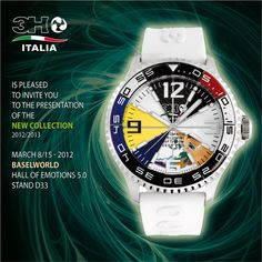3H Italia is pleased it invite you to the presentation of the new collection at Baselworld 2012.