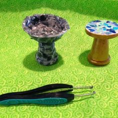 Fairy garden birdbath and/or mosaic table - JOANNA   Campbell Slan – How to Make Miniature Mosiacs–Or How to Have Your Egg and Eat It, Too