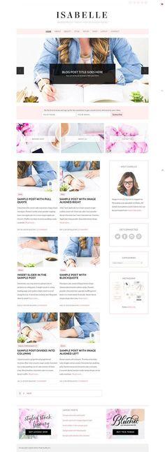 Isabelle - Blog & eCommerce Theme by Bluchic on @creativemarket