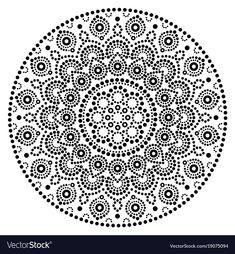 Mandala vector art, Australian dot painting black and white design, Aboriginal folk art bohemian style. Mandalas doted background inspired by traditional art from Australia, boho decoration isolatImages Similar to Mandala Vector Dot Pai. Mandala Art, Mandala Design, Stencils Mandala, Image Mandala, Mandalas Painting, Mandalas Drawing, Mandala Rocks, Mandala Pattern, Aboriginal Dot Painting