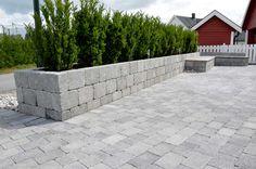 Herregård mur   Asak Miljøstein Sidewalk, Patio, Outdoor Decor, Home Decor, Wall, Stones, Decoration Home, Room Decor, Side Walkway