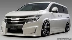 Fledermaus Full Aero Body Kit - Elgrand Buy direct with global shipping to your door from Osaka, Japan. Nissan Vans, Nissan Elgrand, Escalade Car, Cadillac Escalade, Toyota Wish, Pajero Sport, Nissan Quest, Van Car, Day Van