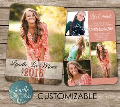 Graduation Announcement by JENELLEdesignSHOP on Etsy                                                                                                                                                                                 More