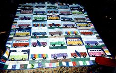 VW Bus Quilt... My brother's family needs this.