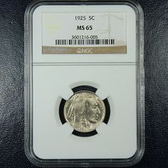 1925 Buffalo Nickel NGC MS65 - GEM. Available now at Finger Lakes Numismatics. Visit our store or contact us at (585) 490-0018 or certifiedcoinsforcollectors@gmail.com