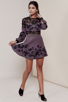 75d9897263 Bring out the hopeless romantic in you with the Isabella Mini Dress.  Mysterious and bold