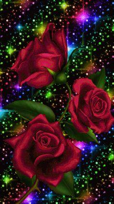 Very beautiful gif Beautiful Flowers Wallpapers, Beautiful Rose Flowers, Beautiful Nature Wallpaper, Pretty Wallpapers, Love Flowers, Rose Flower Wallpaper, Flowers Gif, Heart Wallpaper, Butterfly Wallpaper