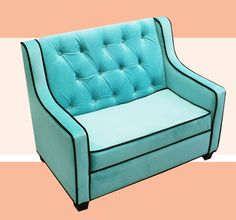 Tween Grand Sofa Aqua/Chocolate Komfy Kings Inc Sofas Kids Furniture Childrens My New Room, My Room, Dorm Room, Girls Bedroom, Bedroom Decor, Bedroom Ideas, Teen Bedrooms, Kids Sofa, Toddler Chair
