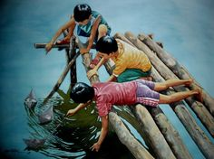 Saatchi Online Artist: jose vistan; Watercolor, Painting paper boat