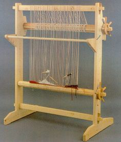 this would fit in a small space - like my studio. Inkle Weaving, Weaving Tools, Card Weaving, Weaving Projects, Tapestry Loom, Rug Loom, Navajo Weaving, Weaving Patterns, Weaving Techniques
